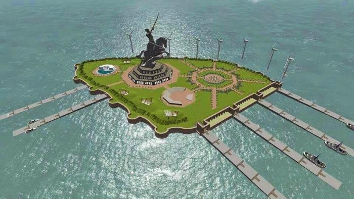 Shivaji statue