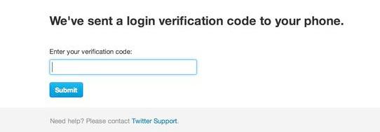 Twitter 2 step verification