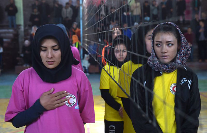 Afghan female volleyball players