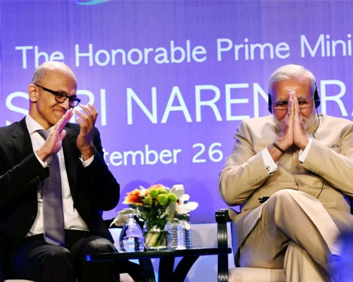 Satya Nadella, Narendra Modi