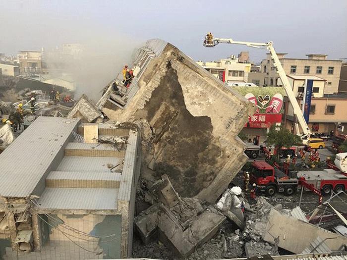 Strong earthquake hits Taiwan