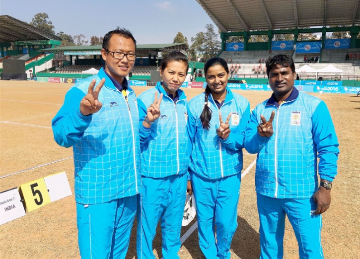 Indian recurve archery team