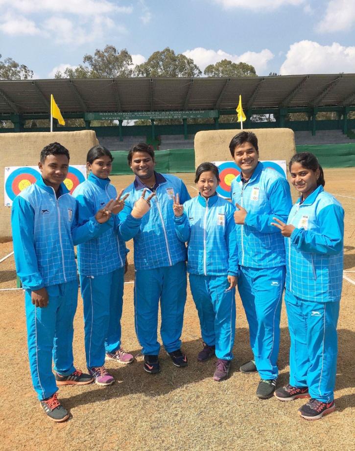 Indian compound archery team