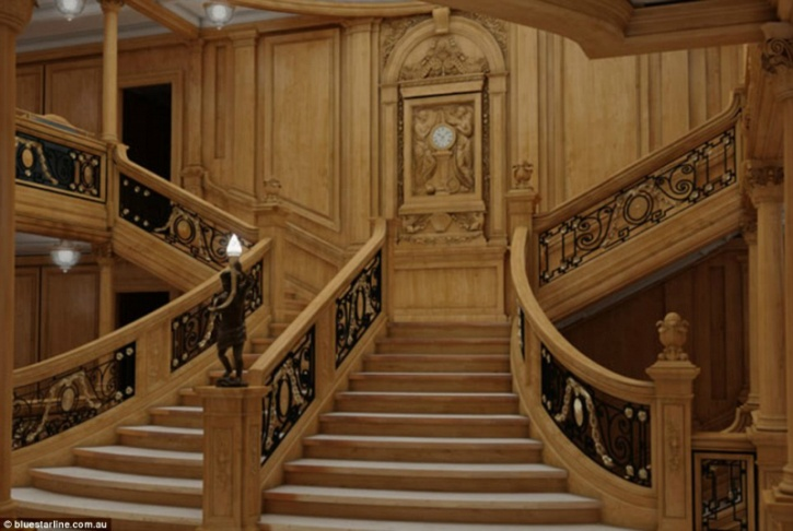 titanic II staircase