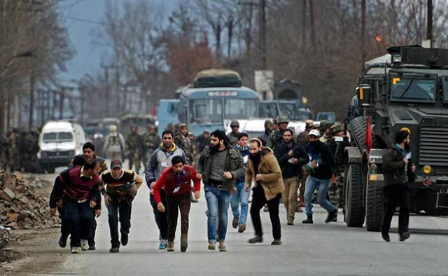 Four People Including Army Captain Killed As Encounter Continues In Pampore