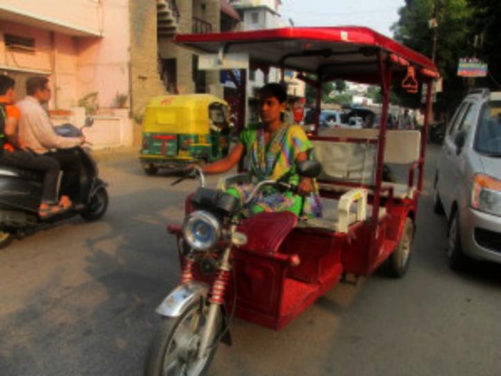 Pink Auto Rickshawq