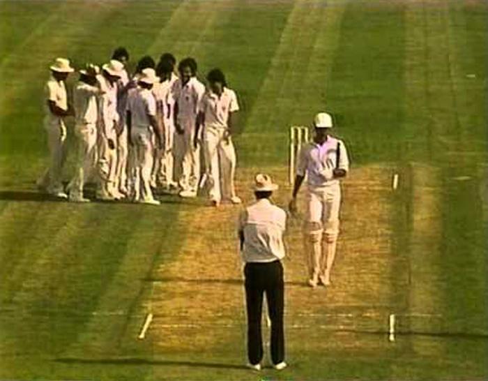 Imran Khan dismisses an Indian batsman