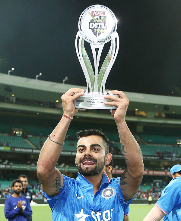 Kohli with the trophy