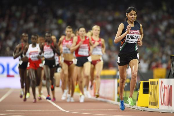 Lalita Babar during the World Athletics Championships
