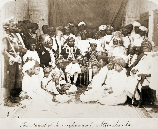 Nawab and attendents
