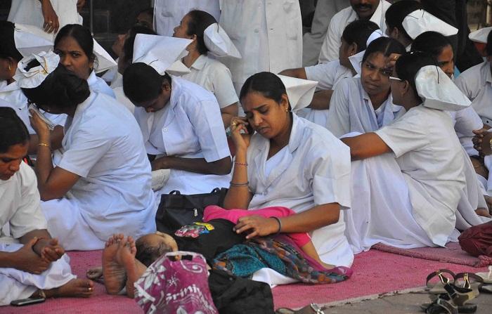 Government Hospitals Nurses Go On Strike Across India. Sarkar Calls Them Anti-National, Threatens Prosecution