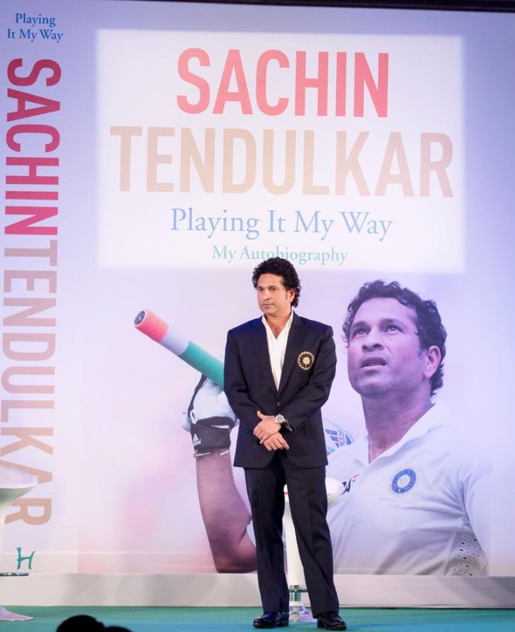 Sachin Tendulkar at his book launch