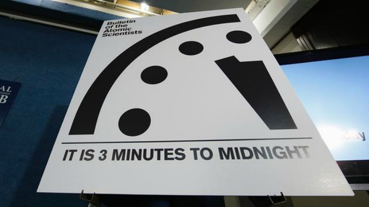 Doomsday Clock Just Three Minutes Away From Midnight Humanity Could Be Close to Being Wiped Out