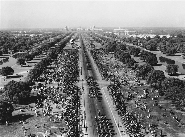 Aerial view republic day