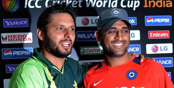 Afridi and Dhoni