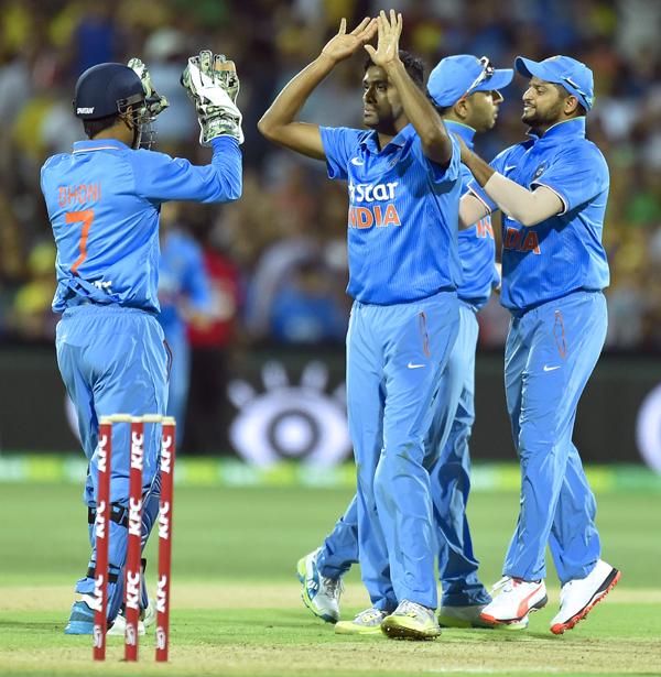 Ashwin takes the wicket