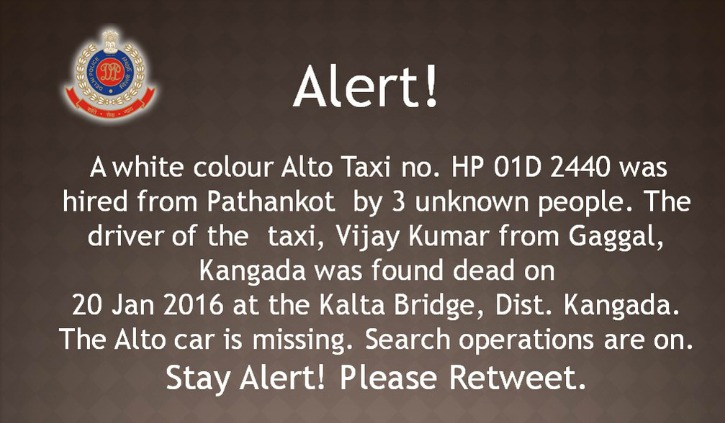 Taxi Driver From Pathankot Gone Missing Found Dead; Delhi On High Alert Ahead Of Republic Day