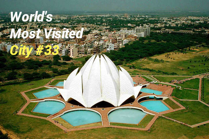 delhi is #33 most visited city in world