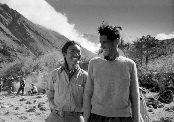 Tenzing Norgay (left), Edmund Hillary (right)