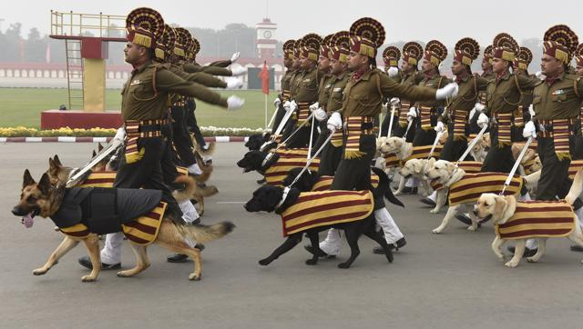 army dogs unit for republic day
