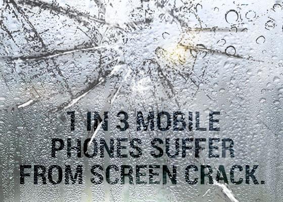 Mobile screen breaking data