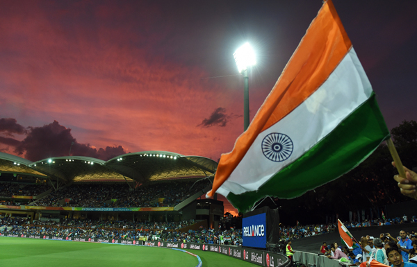 Indian flag at the Adelaide Oval