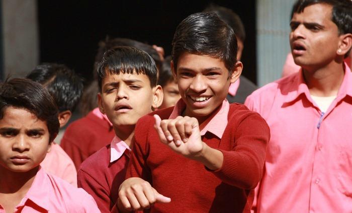 Deaf and mute kids