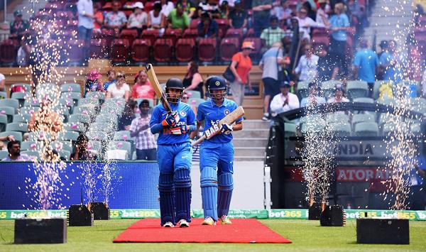 Mithali Raj comes out to open the batting with Smriti Mandhana