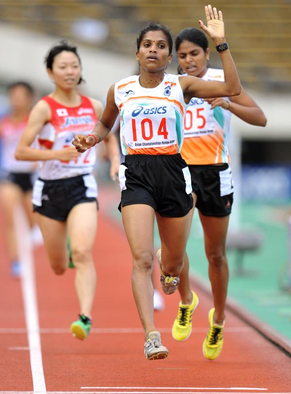 OP Jaisha crosses the finish line
