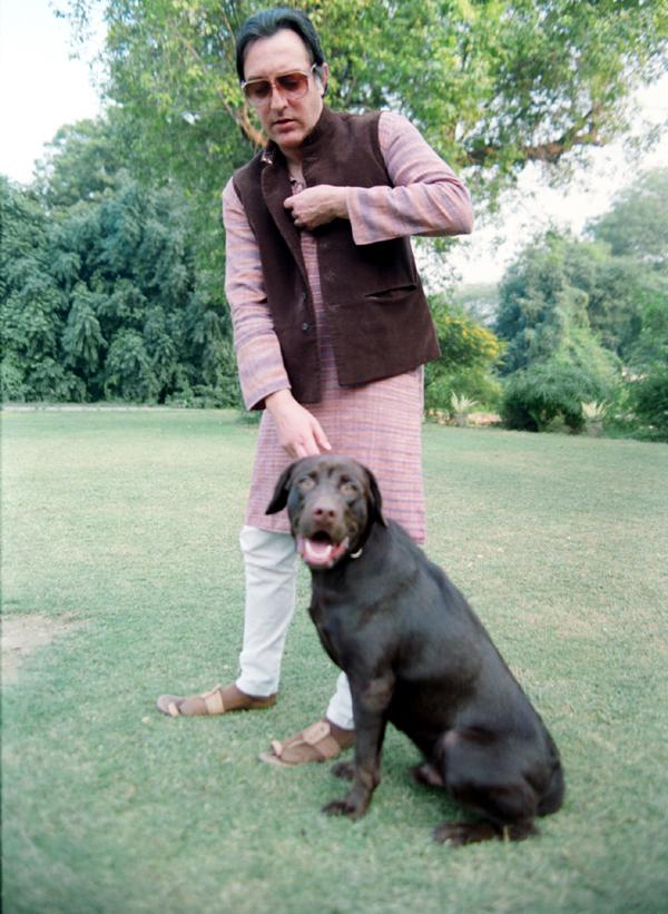 Pataudi with his pet dog