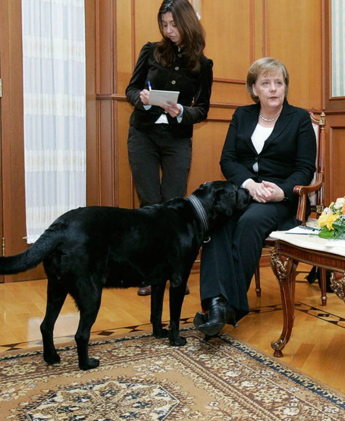 Angela Merkel and Koni
