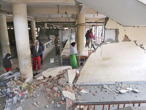 Manipur earthquake damage 1