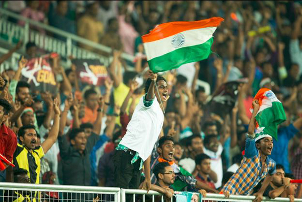 Indian fans at the SAFF Cup final