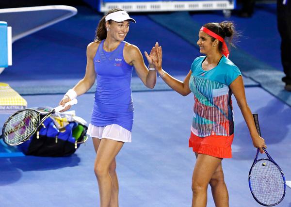 Sania Mirza with Martina Hingis