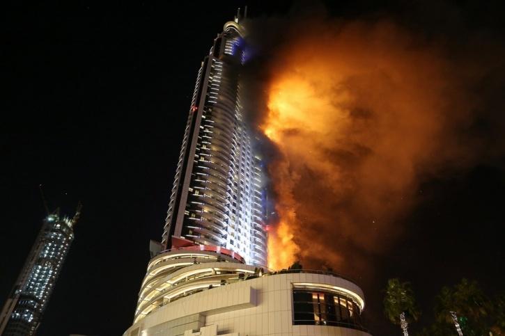 Address Hotel Dubai On Fire