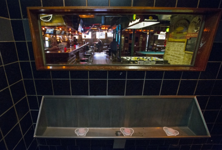 Toilet in Streeter Tavern in Chicago Illinois