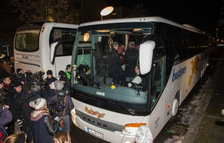 Angry German Town Sends Refugee Bus To Chancellor Merkel