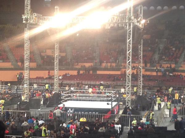The ring at the WWE Delhi leg