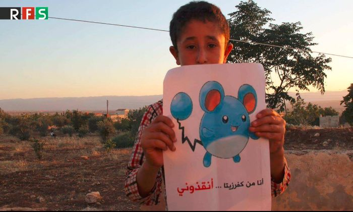 Syrian Children Are Using Pokemons