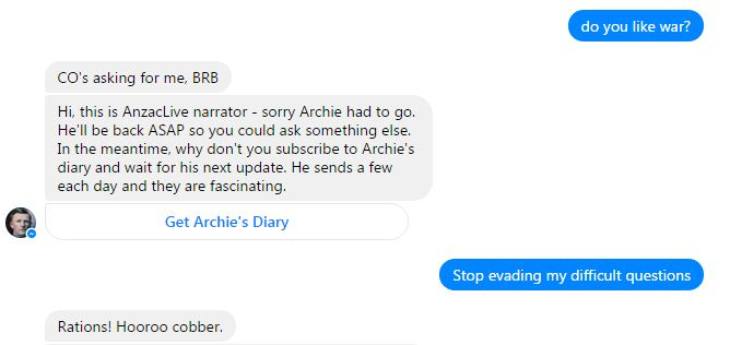 Archie Barwick Chatbot