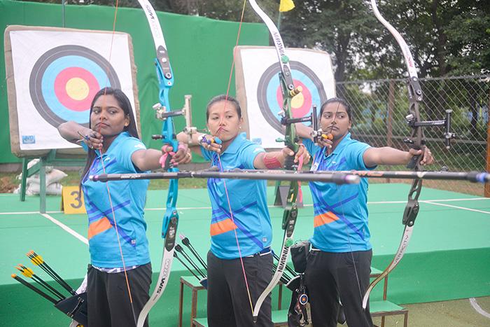 Laxmi Rani Majhi, Bombayla Devi and Deepika Kumari