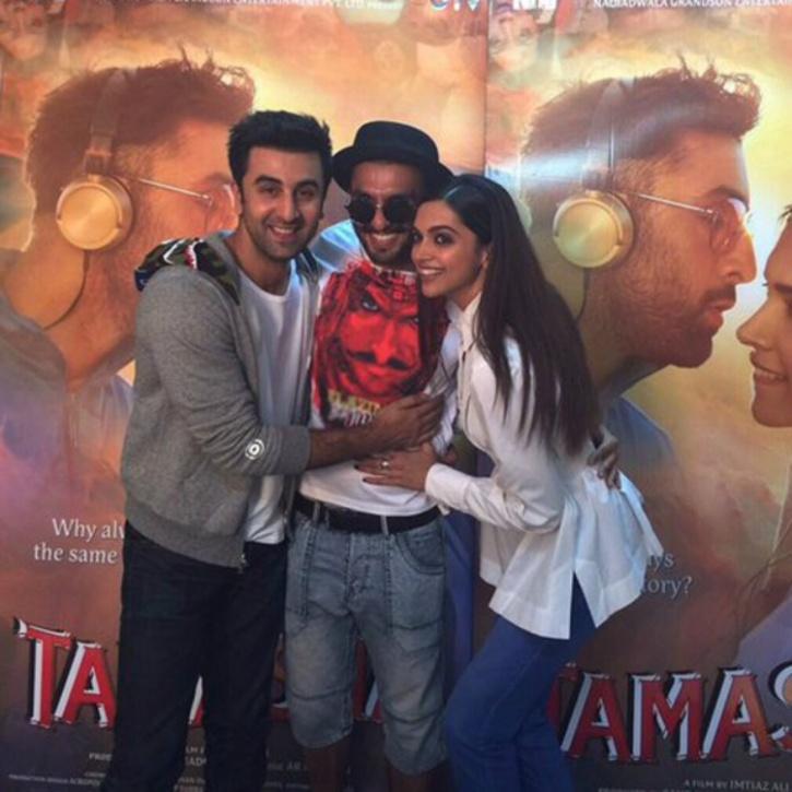 Ranveer, Ranbir and Deepika
