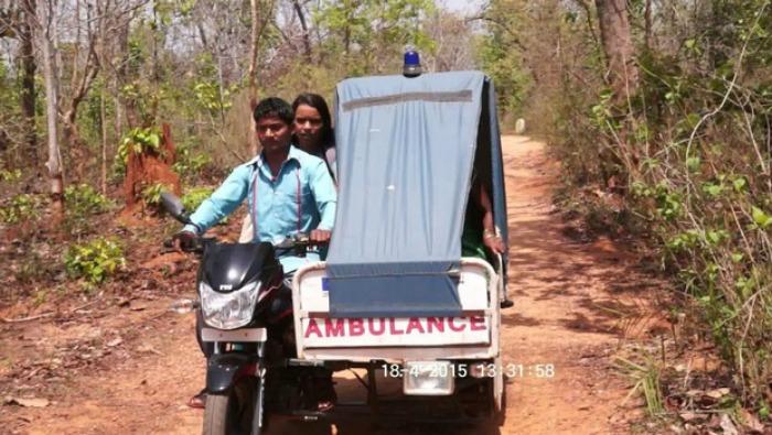 Motorcycle-  ambulance