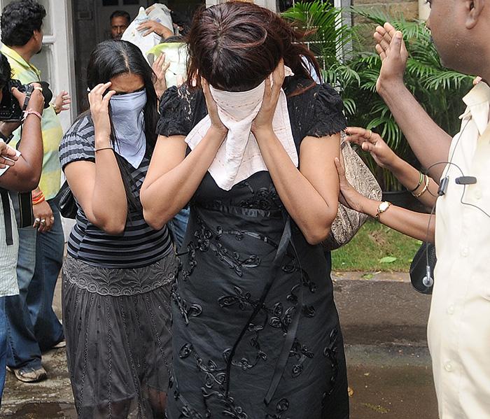 Girls Hiding Face