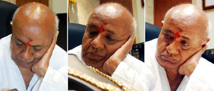 PM HD Deve Gowda who would often sleep off during debates in the parliament during his tenure in 1996-98.