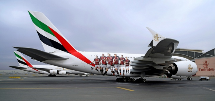 Painting of an Airbus A380