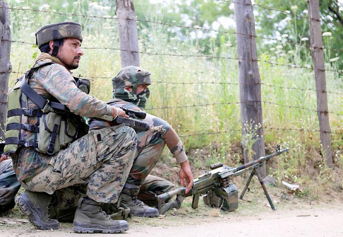 4 Pakistani Terrorists Killed And One Caught In J&K Near The LoC, Encounter In Progress