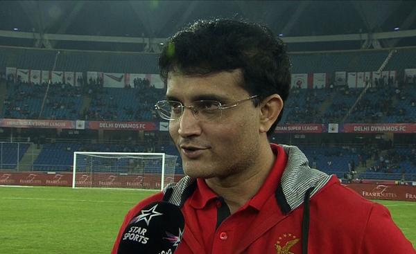 Ganguly during an ISL match