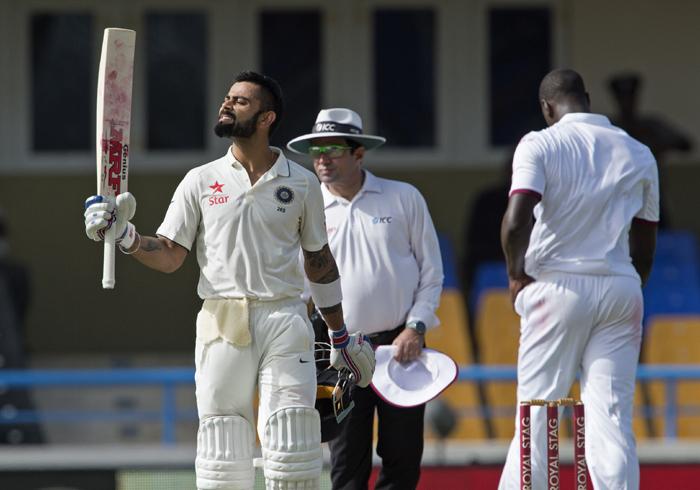 Kohli celebrates ton