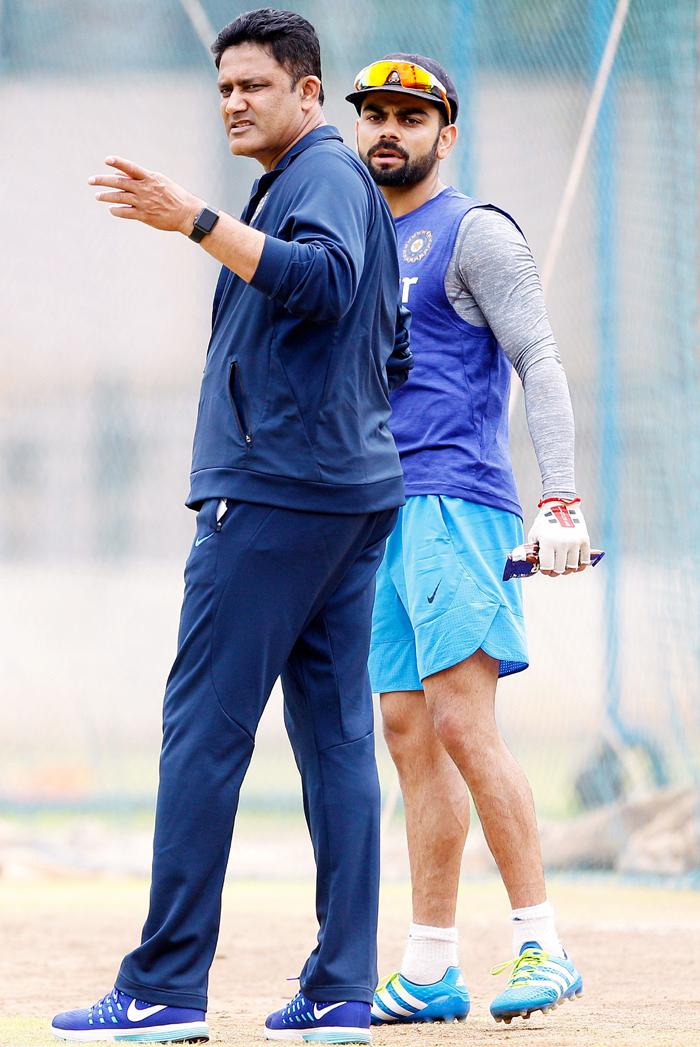 Kumble with Kohli